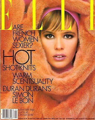 November 1985 cover with Elle Macpherson