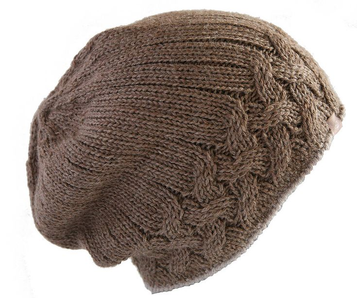 Alpaca Unisex Cable Knit Hat can be purchased so no apparent pattern.... Inspiration!