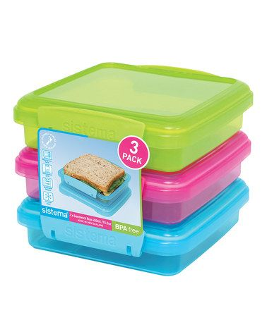 Another great find on #zulily! Color Block KLIP IT To Go Sandwich Box - Set of Three by Sistema #zulilyfinds