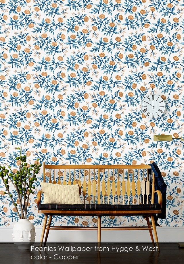 Peonies wallpaper from Hygge