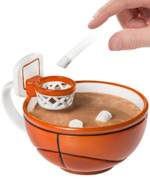The Basketball Mug: Handcrafted Ceramic Mug with a Hoop