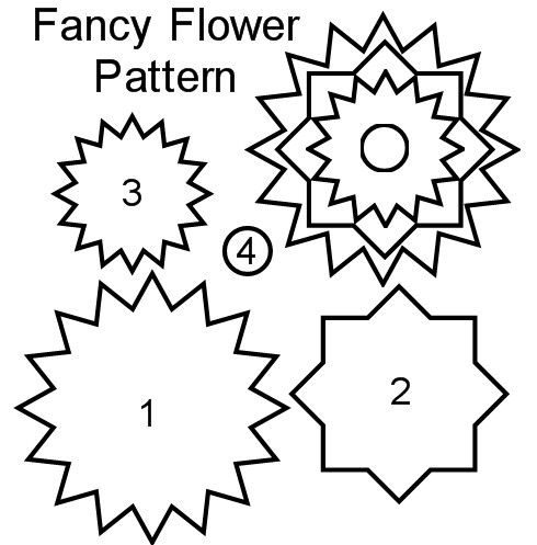 Fancy Flower Free Scrapbook Pattern and Instructions: DIY Fancy Flower for Scrapbooking - Step 1 - Save the Free Flower Pattern