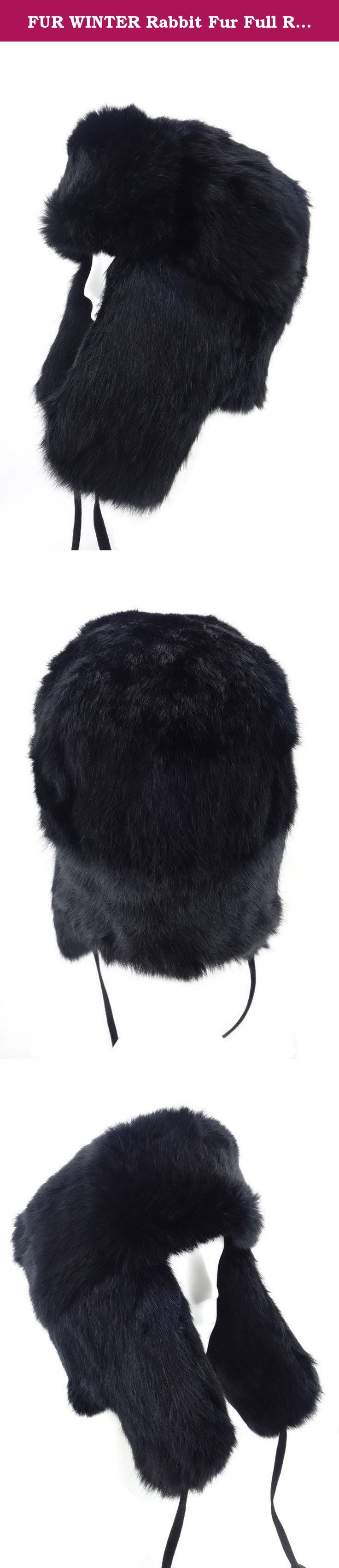 FUR WINTER Rabbit Fur Full Russian Ushanka Soviet Army Military Soldier Hat BLK M. FUR WINTER Full Russian Hat, we put our half century professional and built our reputation on these hats which are designed for warmth and style. This FUR WINTER Rabbit Fur Full Russian Hat offers high quality with stylish design based on classic model. It was made by season rabbit fur on both sides; it not only keeps your head warm and comfortable in cold winter, but does also make you fashionable and...