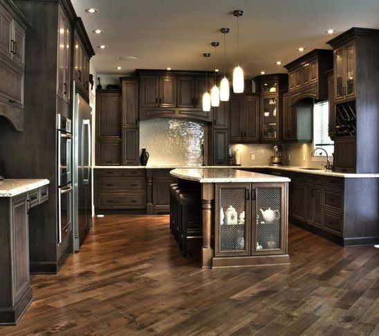 Dark And Light Kitchen Cabinets Together: 32 Best Dark Cabinets W/light Or Dark Floor? Images On