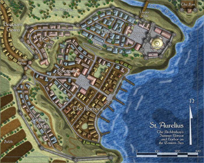 Map of St  Aurelius   Fantasy Maps in 2019   Fantasy city