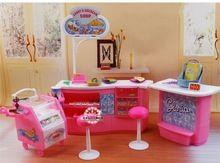 Kunststoff Spielset Süßigkeiten und eis shop Geschenk-set puppe zubehör puppe möbel für barbie-puppe Neue großen stil Mädchen geschenk(China (Mainland))
