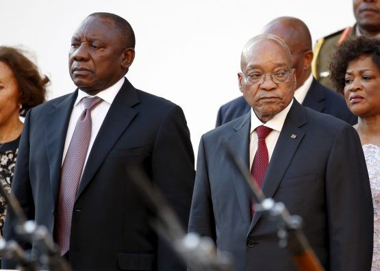 Deputy President Cyril Ramaphosa and President Jacob Zuma