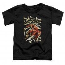 DC Comics The Flash Electric Run Black Toddler T-Shirt