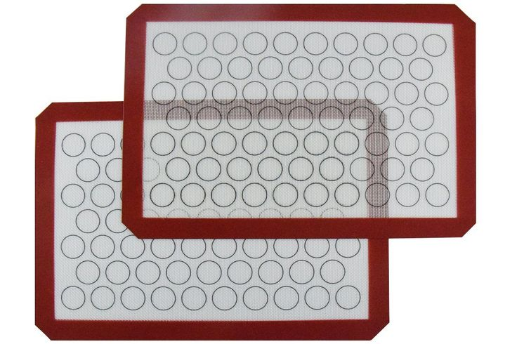 Homankit Silicone Baking Mat, Set of 2 Half Sheet (11 5/8 x 16 1/2) - Non Stick Silicon Liner for Bake Pans and Rolling - Macaron/Pastry/Cookie/Bun/Bread Making * Check this awesome image @ - Baking Accessories
