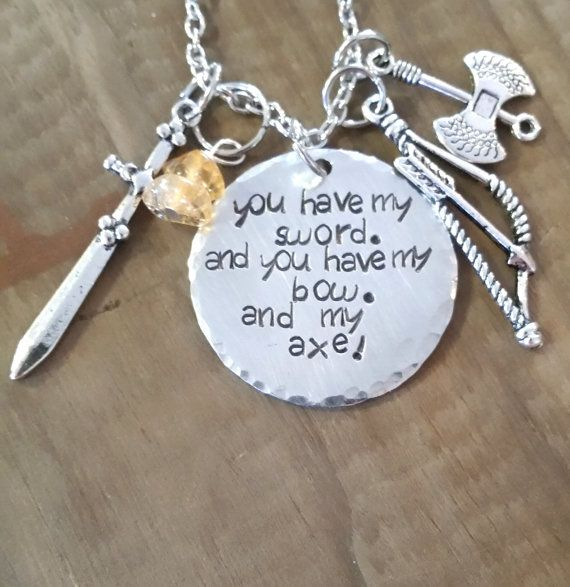 Lord of the Rings inspired-LOTR hand stamped necklace-Aragorn, Legolas, and Gimli necklace