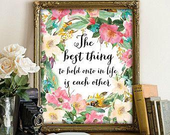 80 % OFF SALE druckbare Kunst die beste Sache zu halten auf im Leben ist miteinander, Ehe Beratung, Audrey Hepburn, Download Drucke