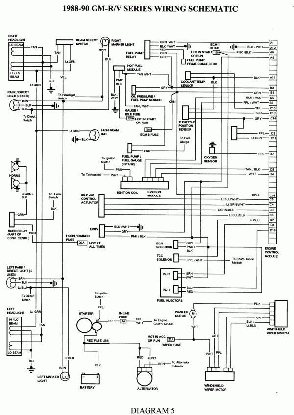Wiring Diagram For 1990 Chevy Pickup With Deisel Engine And Chevy Pickup Tail Light Wiring Diagram Wiri Cableado Electrico Auto Electrico Chevrolet Silverado
