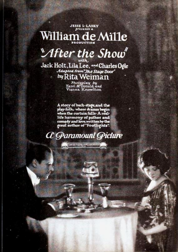 After the Show (1921) with Jack Holt and Lila Lee