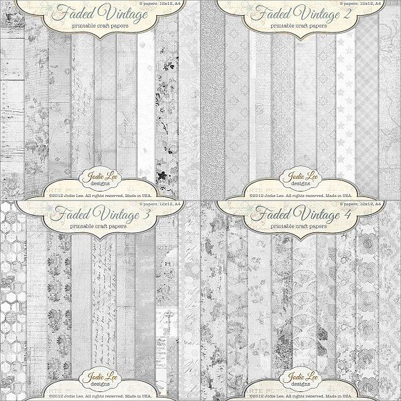 36 Faded Vintage Textured Overlays by Jodie Lee Designs on @creativemarket