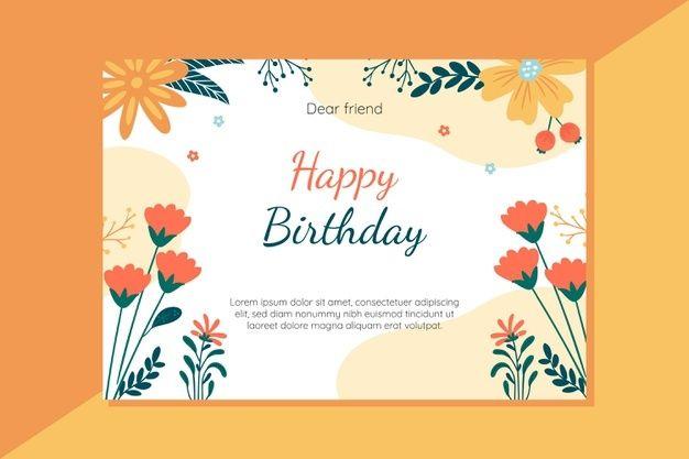 Happy Birthday Card Concept Free Vector Freepik Freevector Birthday Lab Birthday Invitation Card Template Birthday Card Template Birthday Card With Photo