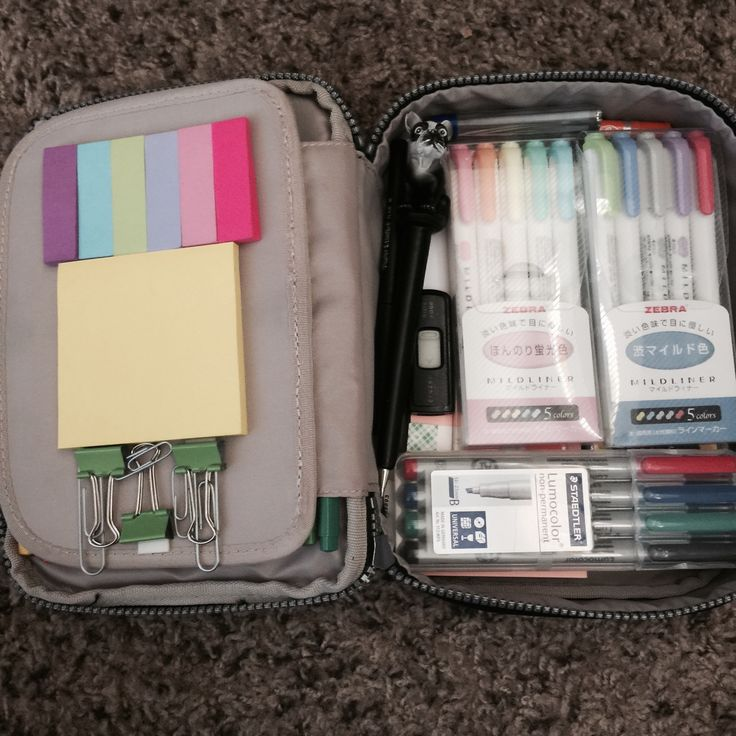 The Studies of a Lonely Frankfurter — Inside my Kipling 100 Pens case. I love this case...