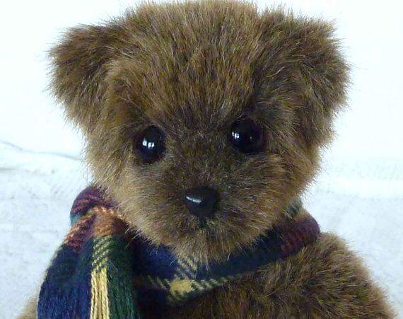 Artist Handmade Synthetic Plush OOAK Teddy Bear by Custom Teddys. $85.00, via Etsy.