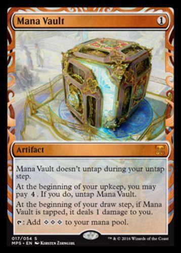 Mana Vault FOIL Masterpiece Series Kaladesh Inventions Magic the Gathering card