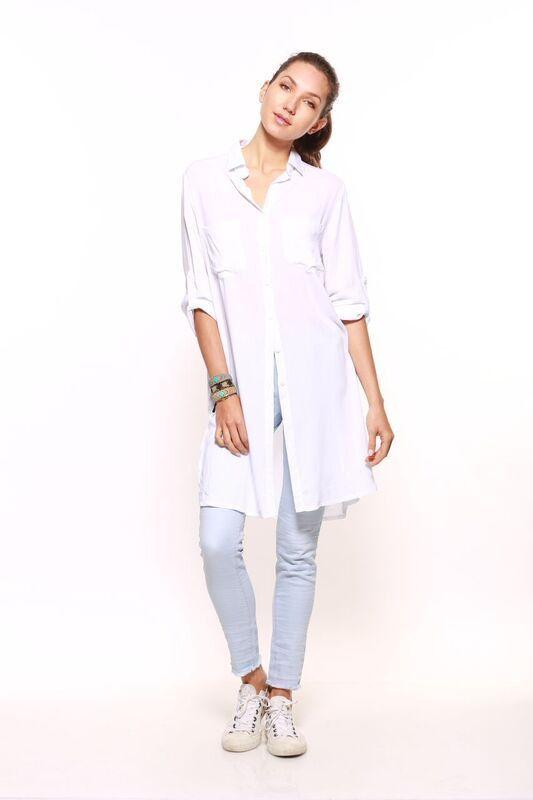 Carousel Essentials - Split Shirt In White