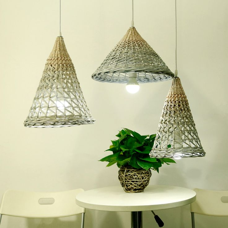 wicker pendant lights, wicker lamp shades