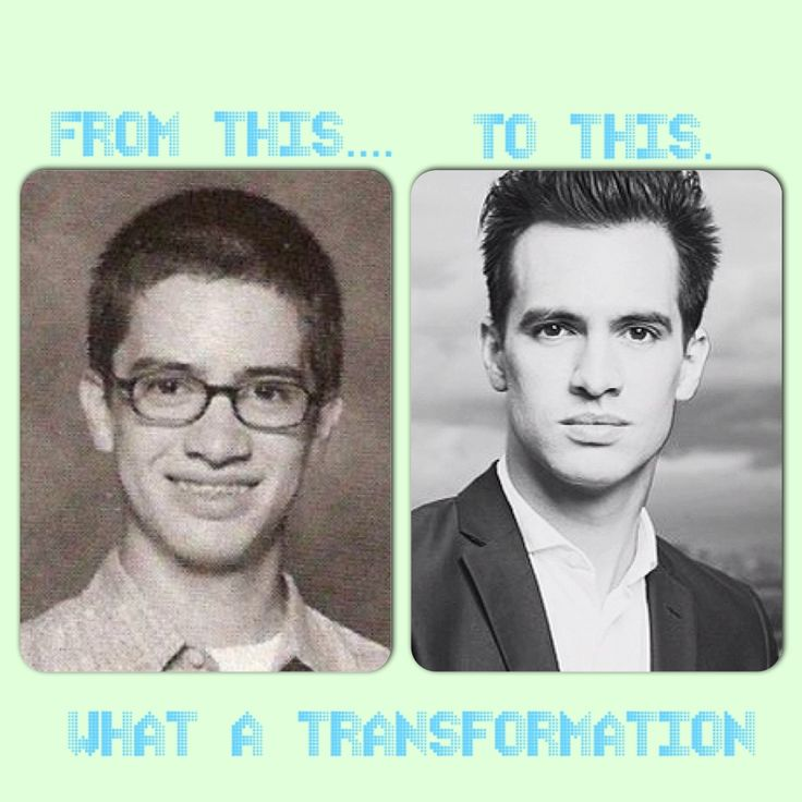 brendon urie...... what a transformation
