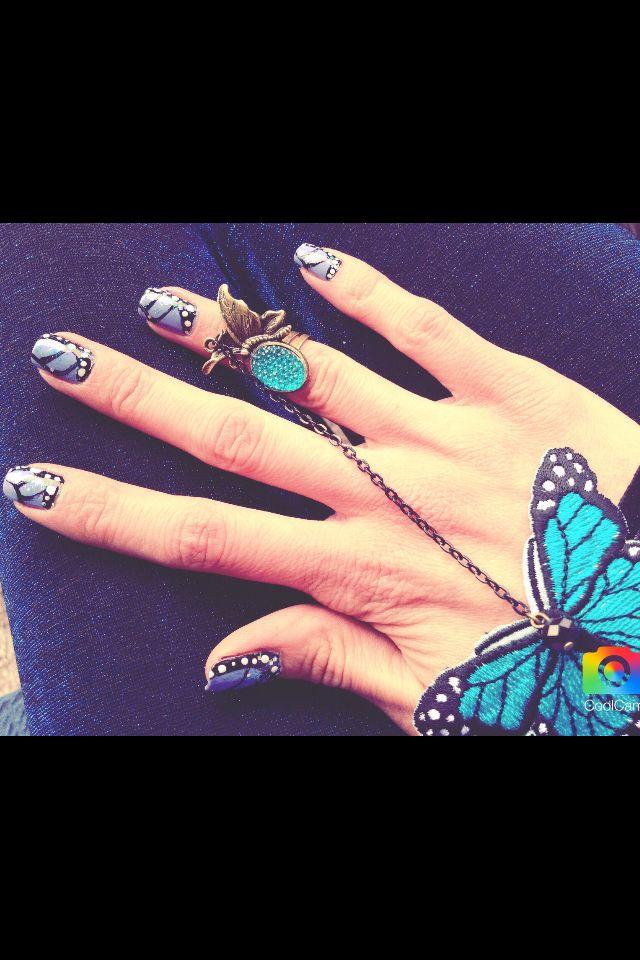 Nail art Butterfly effect