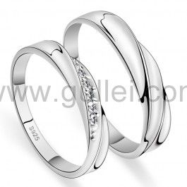 Custom Name 925 Sterling Silver Men and Women Promise Rings Set for two Personalized Couples Gifts | Matching Necklaces and Bracelets | Custom Wedding Rings | Engraved Jewelry