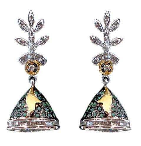 Earrings, Earring, Fashion Earring, Green Earring by #utsavfashion | $83.48