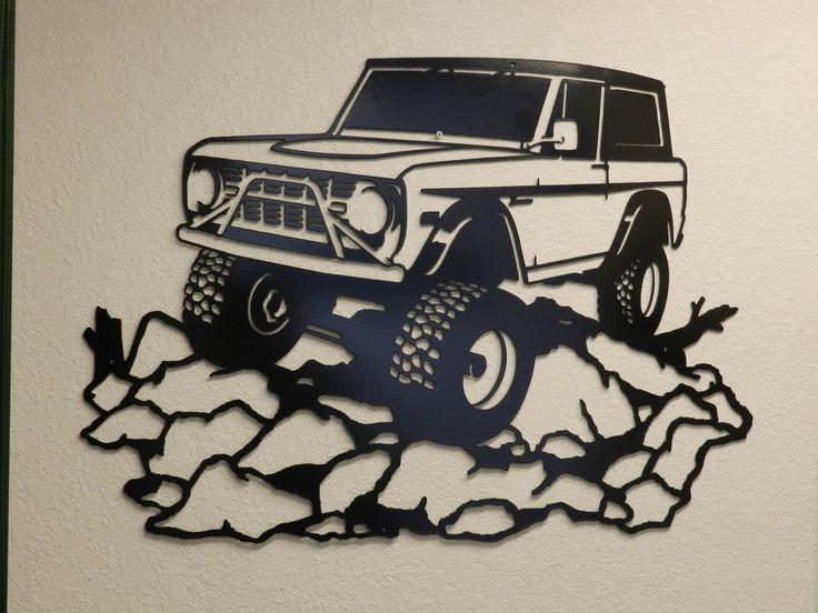 Early Ford Bronco Metal Wall Art. $235.00, via Etsy.
