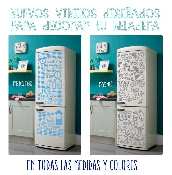 Vinilos decorativos para heladeras. www.vinilosniakate.com.ar