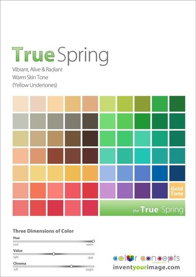 True Spring Palette. (Remember, there is so much more than just this one palette. Educational purposes.)