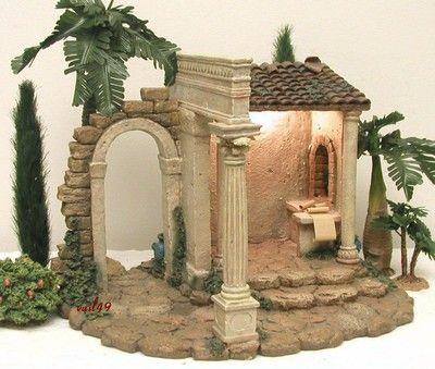 """FONTANINI ITALY 5"""" RETIRED 1999 CENSUS BUILDING NATIVITY VILLAGE #50218 w/BOX"""