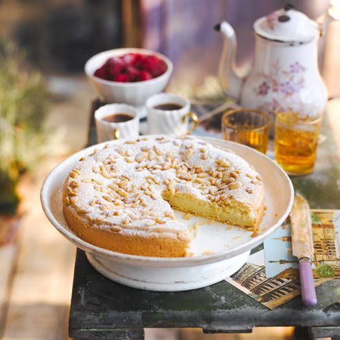This traditional cake, which is filled with custard, is a Tuscan favourite known as Torta della Nonna. As with most Italian classics, everyone's nonna (or grandma) has their own secret recipe… but here's ours!