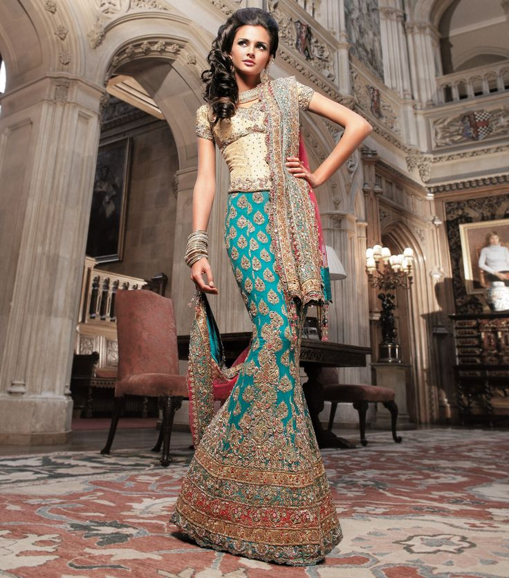 Indian Wedding Gowns: 1000+ Images About Indian Wedding Mermaid-cut Lehenga On