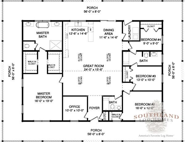 Wilson - Log Home Plan | Southland Log Homes