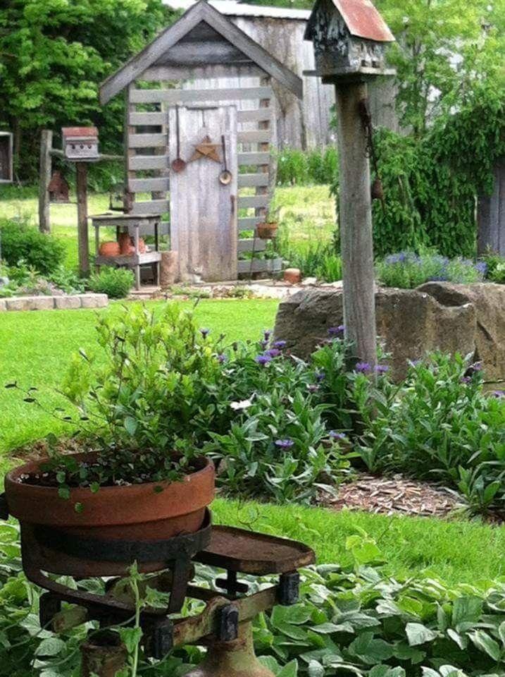 Top 25 Best Primitive Garden Decor Ideas On Pinterest