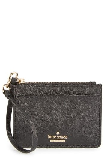 Free shipping and returns on kate spade new york cameron street - mellody leather card case at Nordstrom.com. A neat card case made from scratch-resistant, crosshatch-textured leather features a convenient wrist strap, a stowaway key ring, enough space for some cash, four card slots and an ID window.