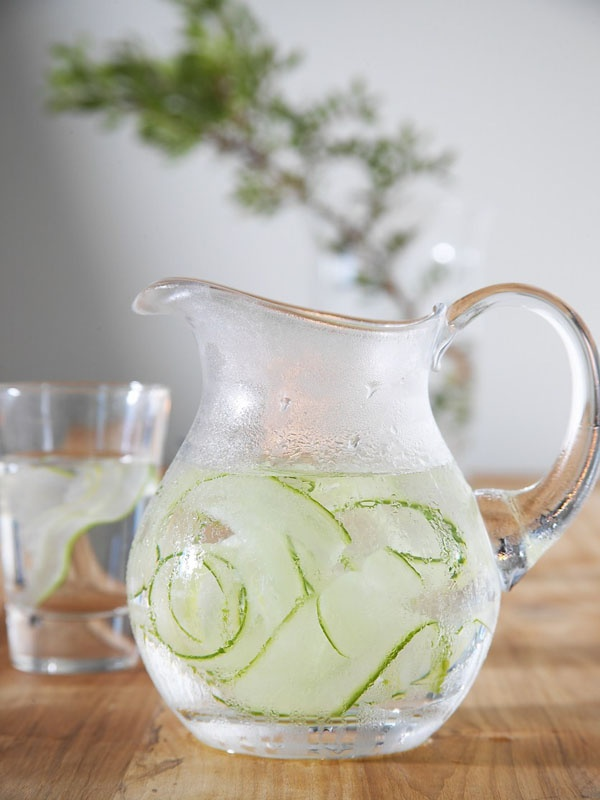 Cucumber water upon arrival
