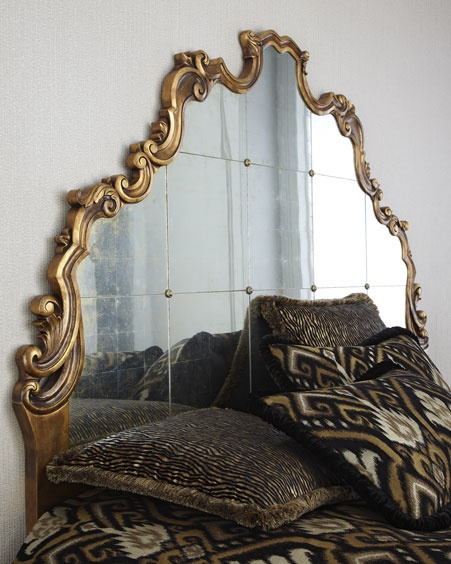 Lovely mirrored headboard from horchow take me home for Mirror headboard