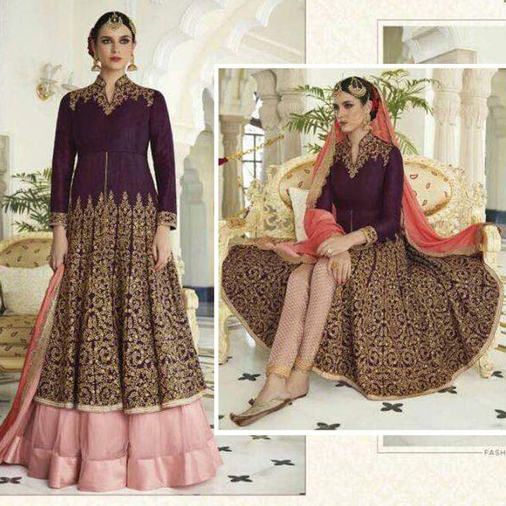 Wedding Shalwar Kameez Indian Pakistani EID Partywear Designer Anarkali Dress #Handmade #SalwarKameez