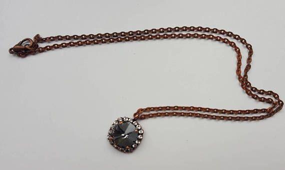 Check out this item in my Etsy shop https://www.etsy.com/ca/listing/555039779/black-diamond-swarovski-element-pendant