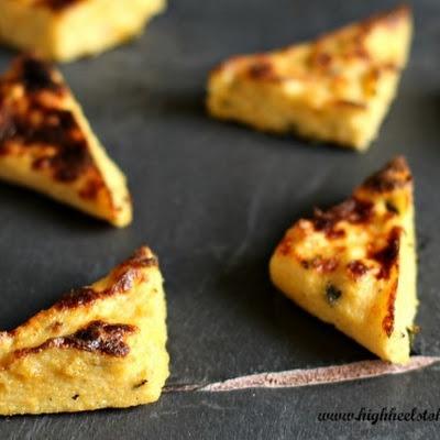 Baked Polenta Triangles