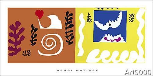 Henri Matisse - L'oiseau et le requin, 1947