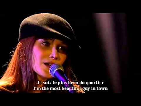 ▶ Carla Bruni Le plus beau du quartier French and English subtitles - YouTube