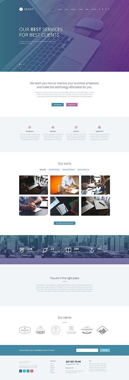 Web Design Responsive #WordPressThemes wordpress website template