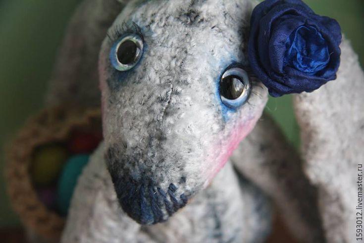 Купить Настюша - серый, игрушка ручной работы, интерьерная игрушка, тедди, заяц игрушка