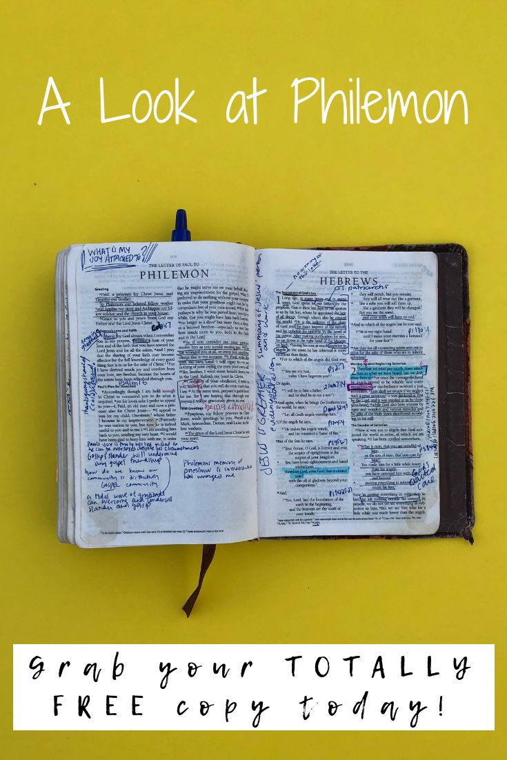 Devotional bible study to walk through the one chapter