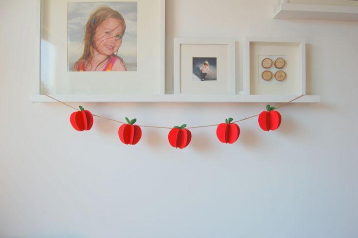DIY apple garland - northstory