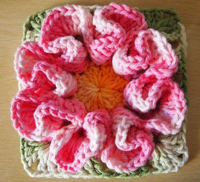 Crochet - Camelia Flower square