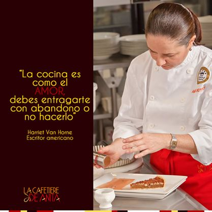 """""""La cocina es como el amor, debes entregarte con abandono, o no hacerlo"""". Harriet Van Horne, escritor americano"""